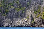 Huge limestone cliff in Palawan, Philippines
