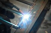 light from welding