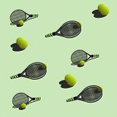 seamless pattern tennis?