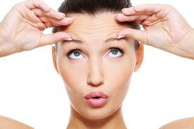 foto of forehead  - Close - JPG