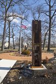 Column from World Trade Center site  at the September 11 memorial  East Rockway