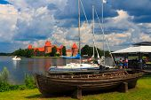 Old Castle On The Island, The Town Of Trakai, Lithuania