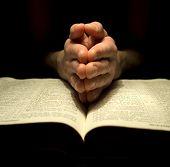 prayer over a  Bible
