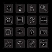hand drawn flat black icons