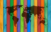 the color wood world map