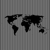 empty shape world map on background from lines