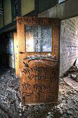 Graffiti on Wood Door