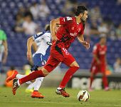 BARCELONA - AUG, 30: Vicente Iborra of Sevilla FC during spanish league match against Espanyol at th
