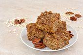 Healthy, Homemade Pumpkin Pecan Oatmeal Snack Bars.