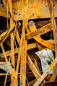 heap of rusty metal-scrap