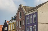 Colorful Houses At The Waalkade In Nijmegen