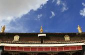 temple in blue sky