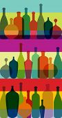 Bottle art background illustration. Vector.