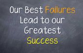 our best failures lead to success