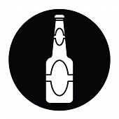 Beer Bottle  Icon Vector.eps