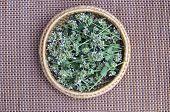 Fresh Medical Herb Lemon-balm In Basket