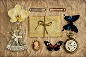 Nostalgic Scrapbooking Grungy Background Dark Designed