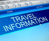 Travel Information Concept.