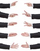 Set Of Counted Businessman Hand