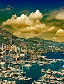 Beautiful Sunset In Monaco. Mediterranean Landscape