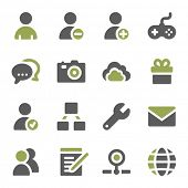 Social media web icons set