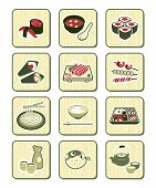 Japanese sushi-bar icons | BAMBOO series