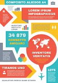Infographic Business Concept on vertical A4 format