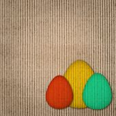 Paper Background With Easter Eggs Decoration