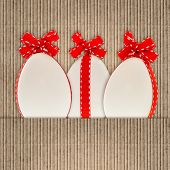 Paper Background With White Easter Eggs Decoration