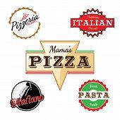 Italian Pizza Labels