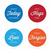 Positive Quotes and Inspirational Labels