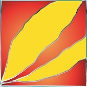 Abstract Yellow Strip Orange Red Background