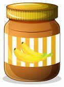 Illustration of a banana jam on a white background
