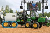 John Deere Harvester 1110E At Finnmetko 2014