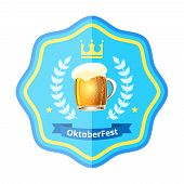 Oktoberfest beer badge