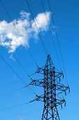 pic of transmission lines  - Power transmission lines - JPG