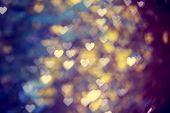 blurred bokeh background with hearts