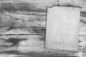 old vintage paper on wood texture, gray background