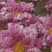 Flowers Sewing Buttons Image Generated Background