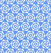 Seamless hexagons blue texture. Vector art.