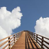 pic of stairway to heaven  - bridge into heaven sky with dreamy clouds - JPG
