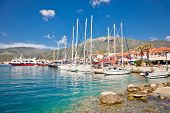 Nydri harbour at Lefkada island in Greece.