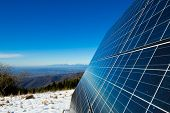 Solar Cells On The Top Of The Mountain