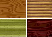 Illustration of four different wood texture
