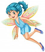 Illustration of a blue fairy
