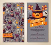 picture of halloween characters  - Vector illustration - JPG