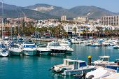 Benalmadena City, Marina And Sailing Boats