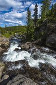 Little Firehole River Near The Mystic Falls
