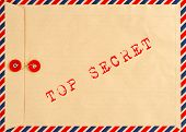 Vintage Airmail Envelope. Top Secret