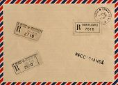 Vintage Airmail Envelope With Stamps